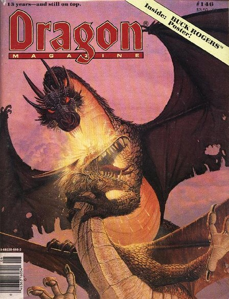 dragon magazine 146 autographed