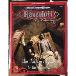 van richtens guide to the created ravenloft