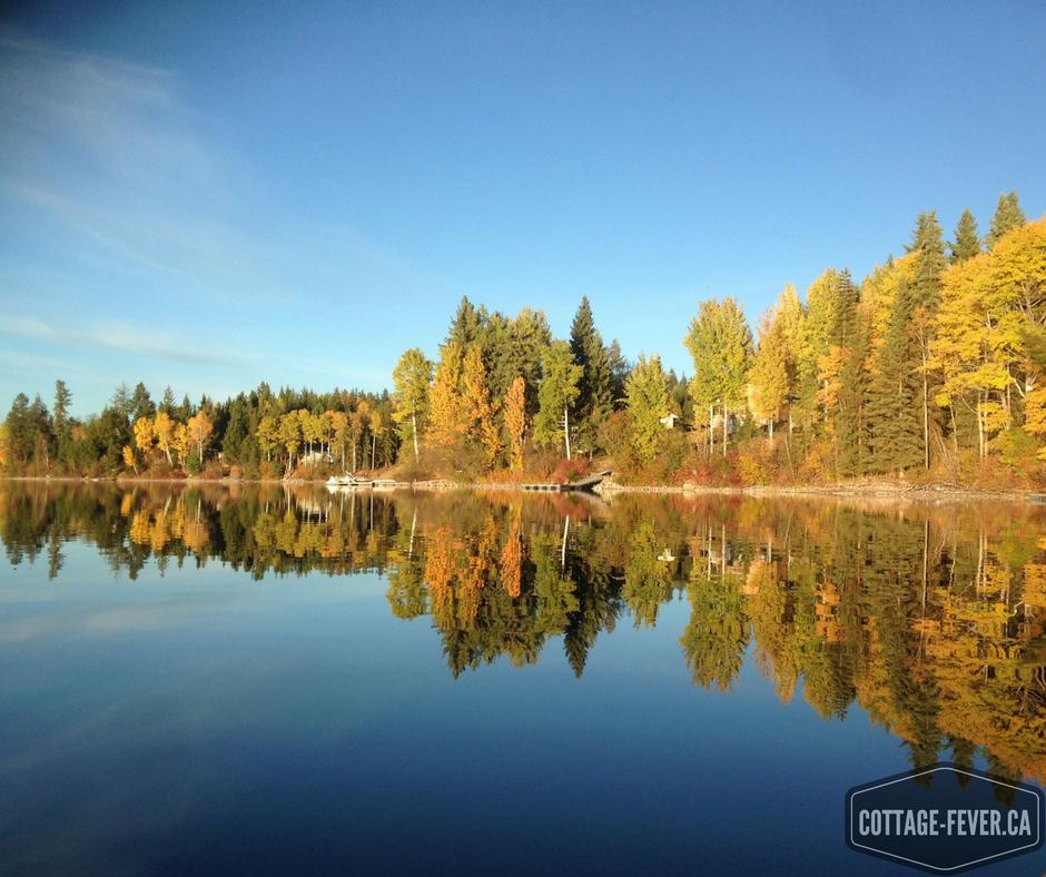lake fall autumn reflection
