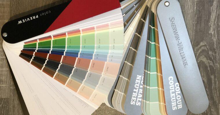 Factors that go into choosing a paint colour
