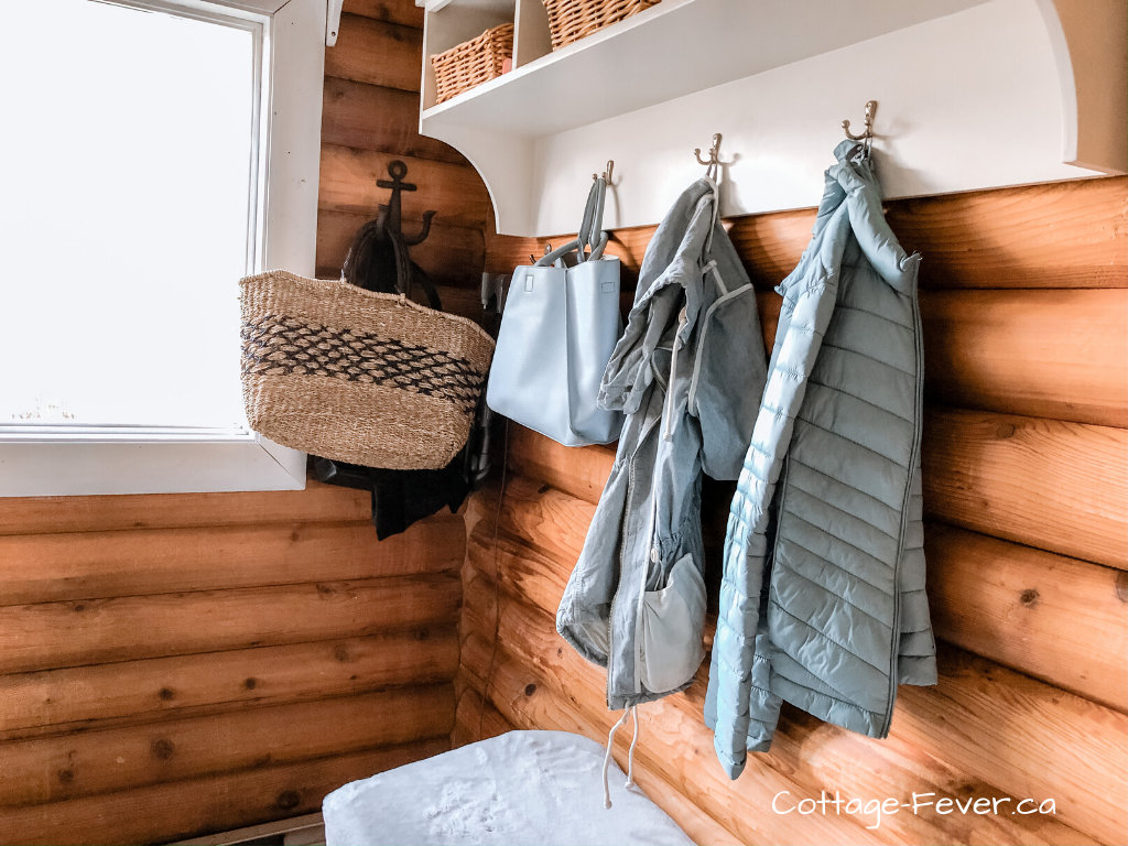 Organizing the mudroom