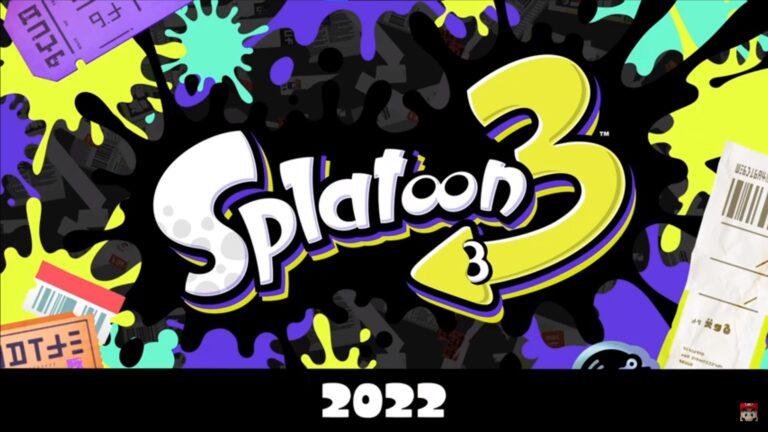 Nintendo anuncia Splatoon 3 para el Nintendo Switch en el 2022