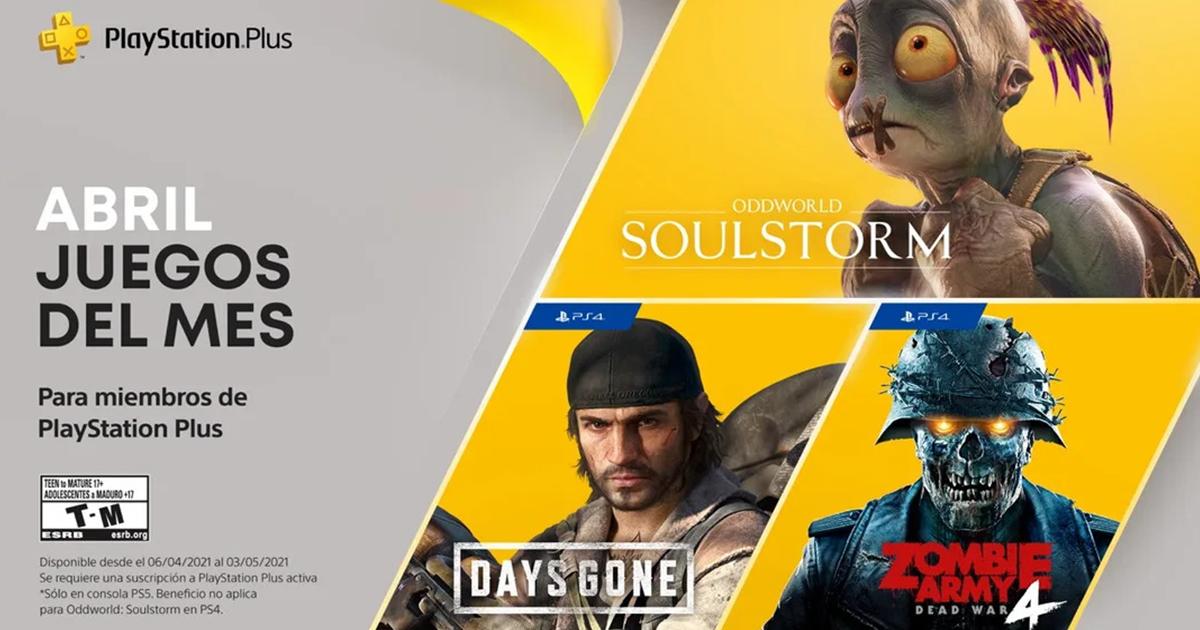 PlayStation anuncia los juegos gratuitos de PS Plus para Abril 2021
