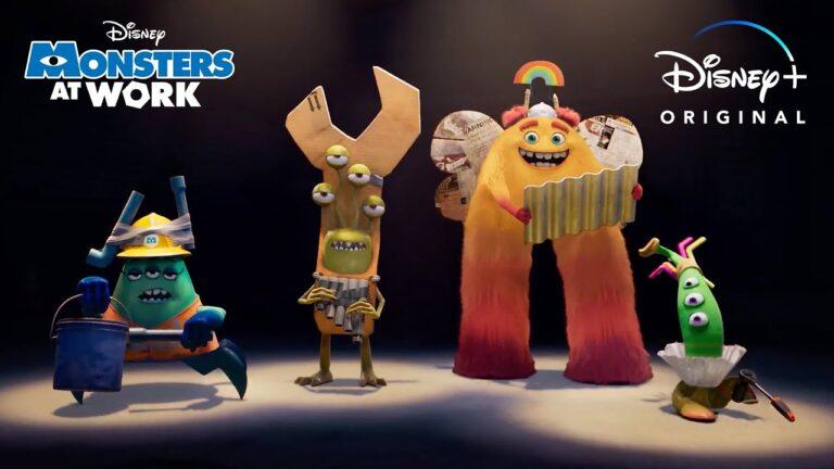 Ya está disponible el primer avance de la serie de Disney Pixar's Monsters At Work