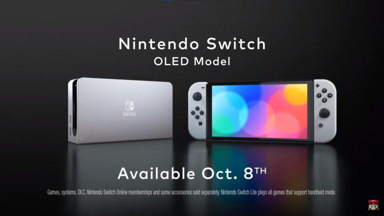 Nintendo confirma, que la Nintendo Switch OLED Model tendrá los mismos Joy-Cons