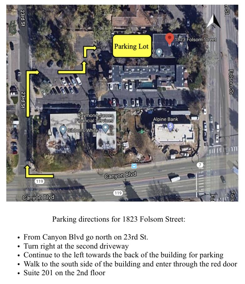 aloha wellness boulder parking directions