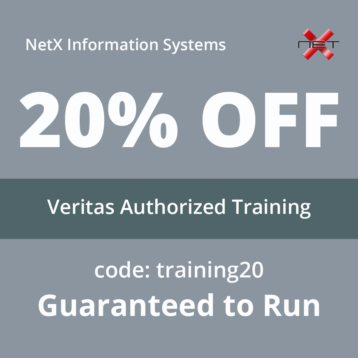 Save 20% on Veritas Authorized Training
