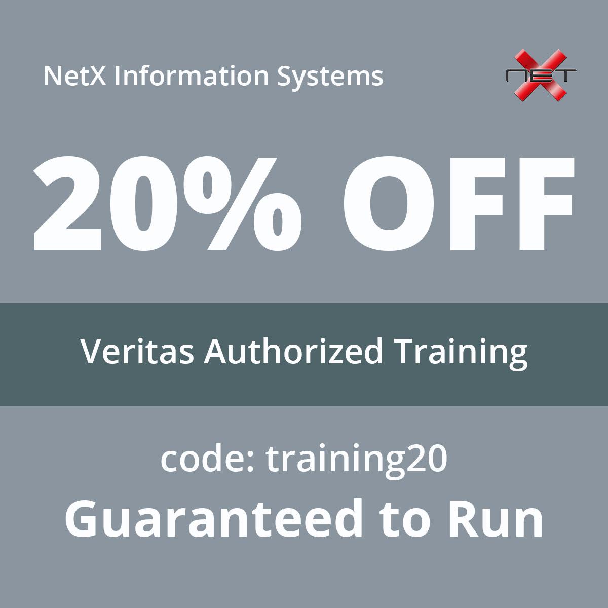 Save 20% on Veritas Authorized Training