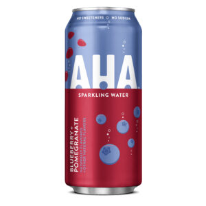 aha blueberry pomegranate sparking water