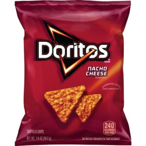 doritos nacho flavored tortilla chips