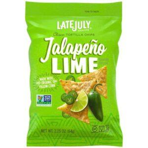 Late July Jalapeno Lime Tortilla Chips 2.25 oz