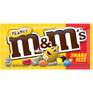 m&m chocolate peanut candies