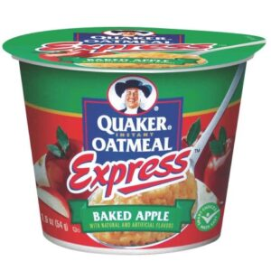 Quaker oatmeal express baked apple cup