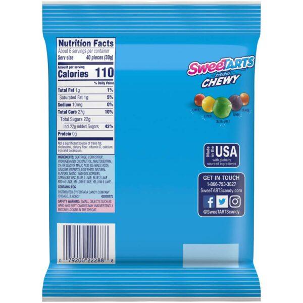 sweetarts mini chew candies