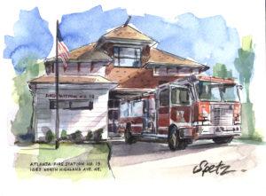 Fire Station #19 illustration by Steve Spetz