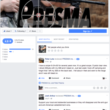 Peter Lotz reviewed PRESMA Inc. — 5 star,  I have a sniper 6-24×50 for several years now…