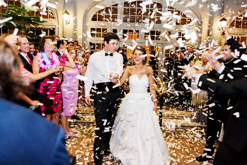 Wedding Bliss Events Planning - Send-off with Flutter Fetti raining down