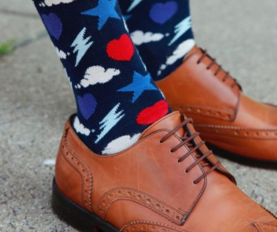 I call these my Harry Potter socks. It's the lightning bolt.
