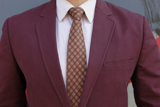 This blazer-tie-shirt combo is a favorite.