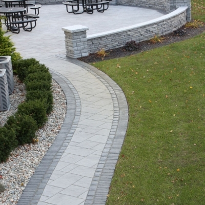After Patio and Seating Wall and Walkway 2