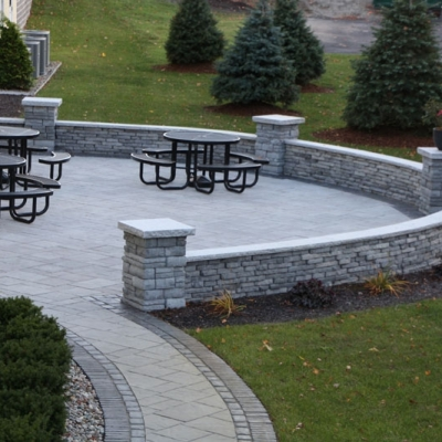 After Patio and Seating Wall and Walkway