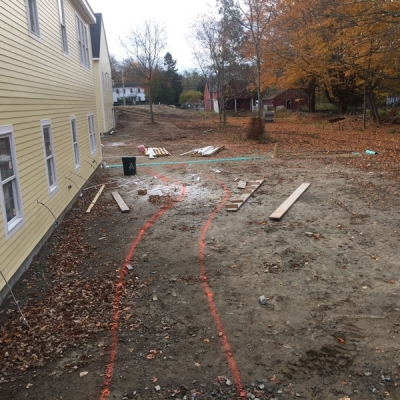 Before Patio and Seating Wall and Walkway 2