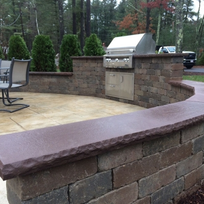 After Seating Wall and Built In Grill