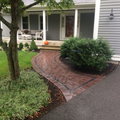 After paver walkway
