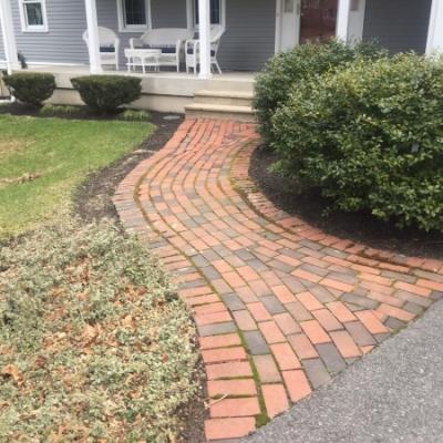 Before brick walkway