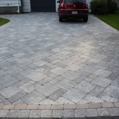 Driveway using Stonehenge and Brussels pavers.