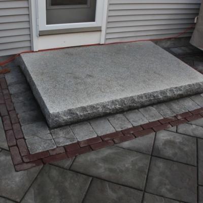 Split face granite 4' x 6' landing