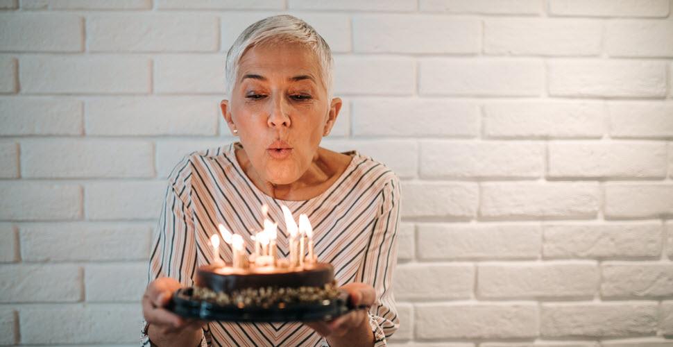 Lady Celebrating Her Birthday