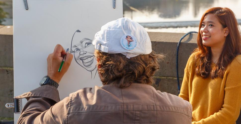 Caricature Artist at Corporate Event