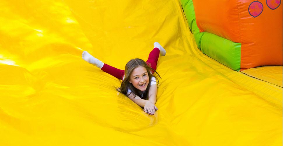 Little Girl Sliding