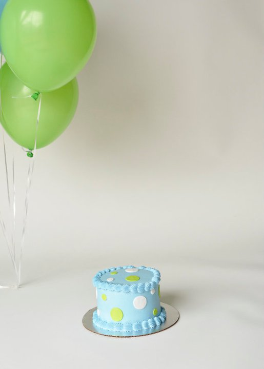 smash cake blue and green