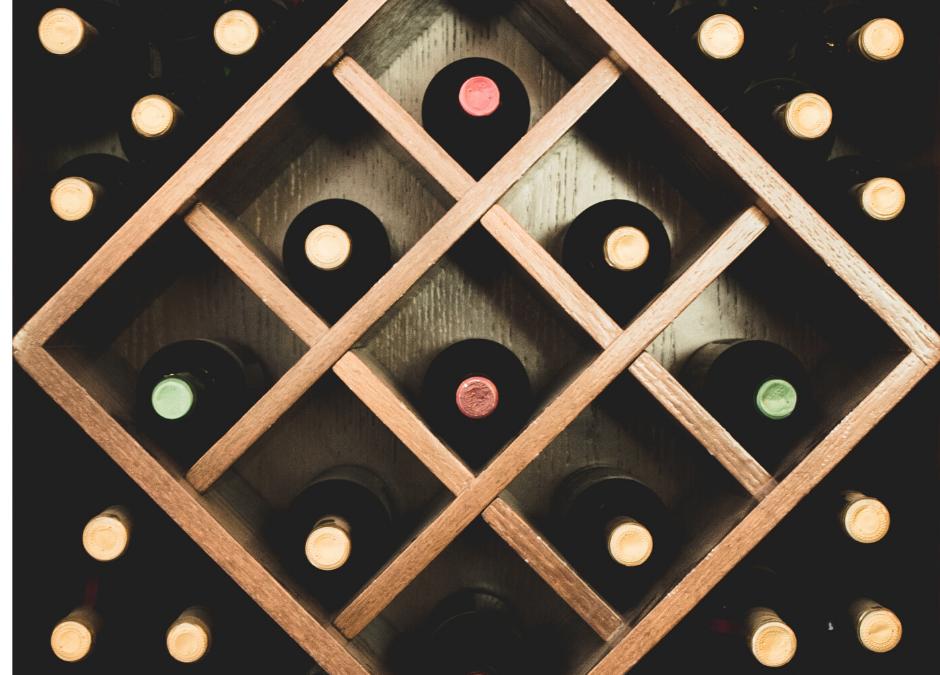 photo of wood wine rack