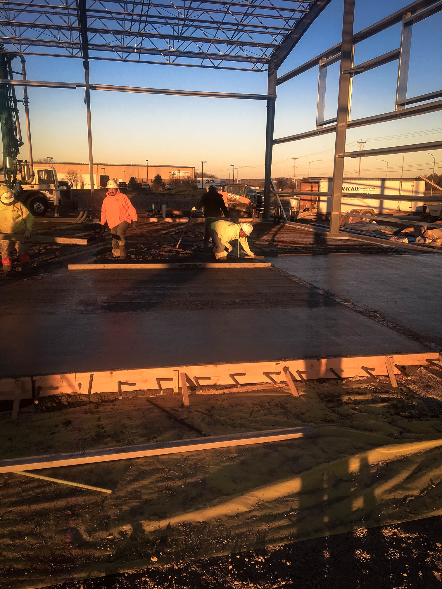 Pouring Floors on a Commercial Project
