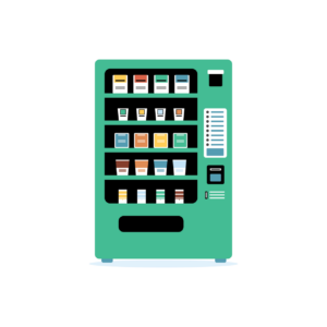 Energy saving vending machines, like this 'green' vending machine, use special lighting and cooling systems to reduce waste.