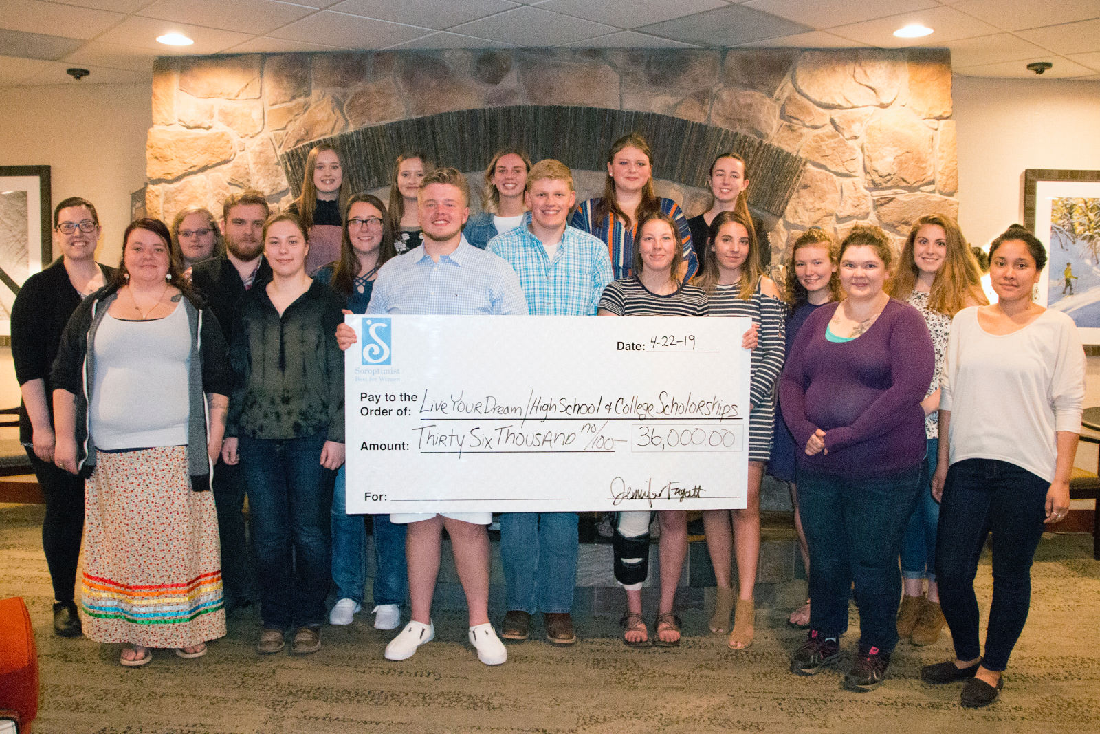 Local students receiving educational scholarships