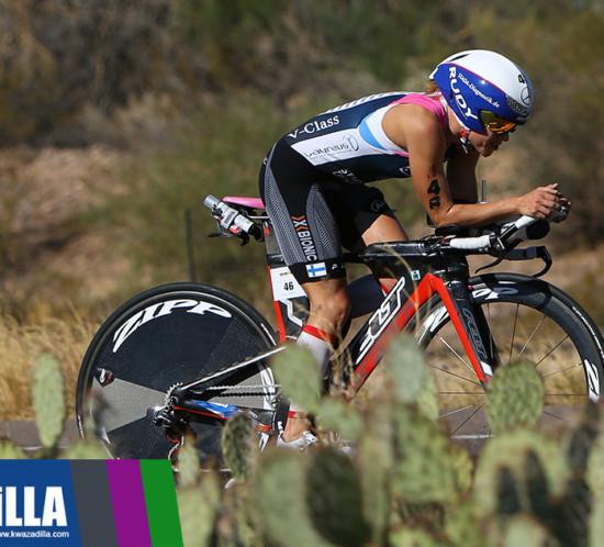 IRONMAN Arizona 2017 winner Kaisa Sali