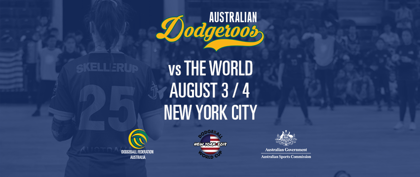 Cheer for Australia in the Dodgeball World Cup in NYC!