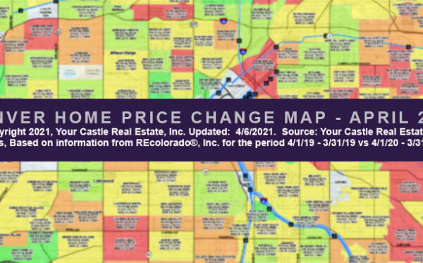 Download Denver Home Price Change Map - April 2021