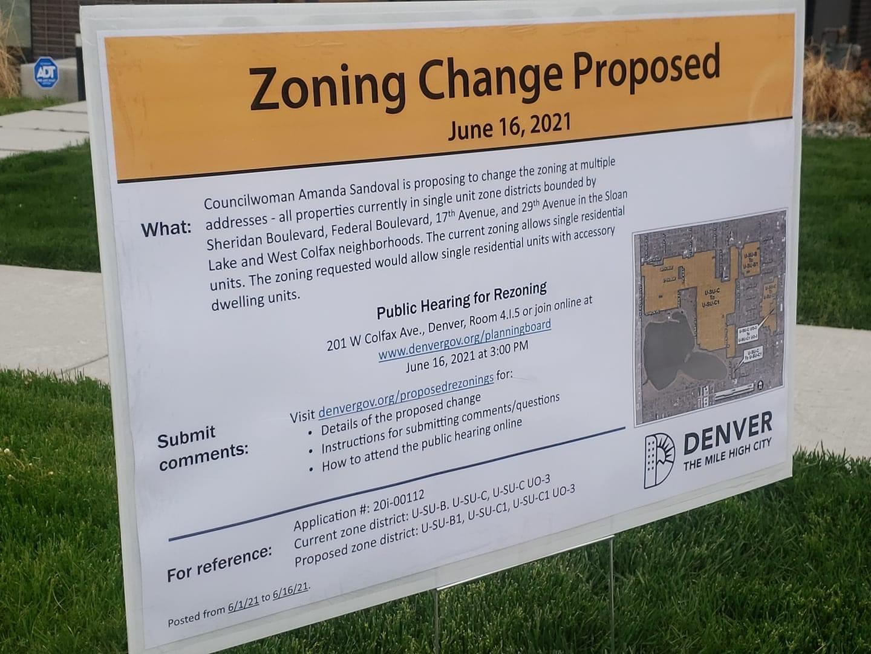 Sloan's Lake Zoning Change Proposal