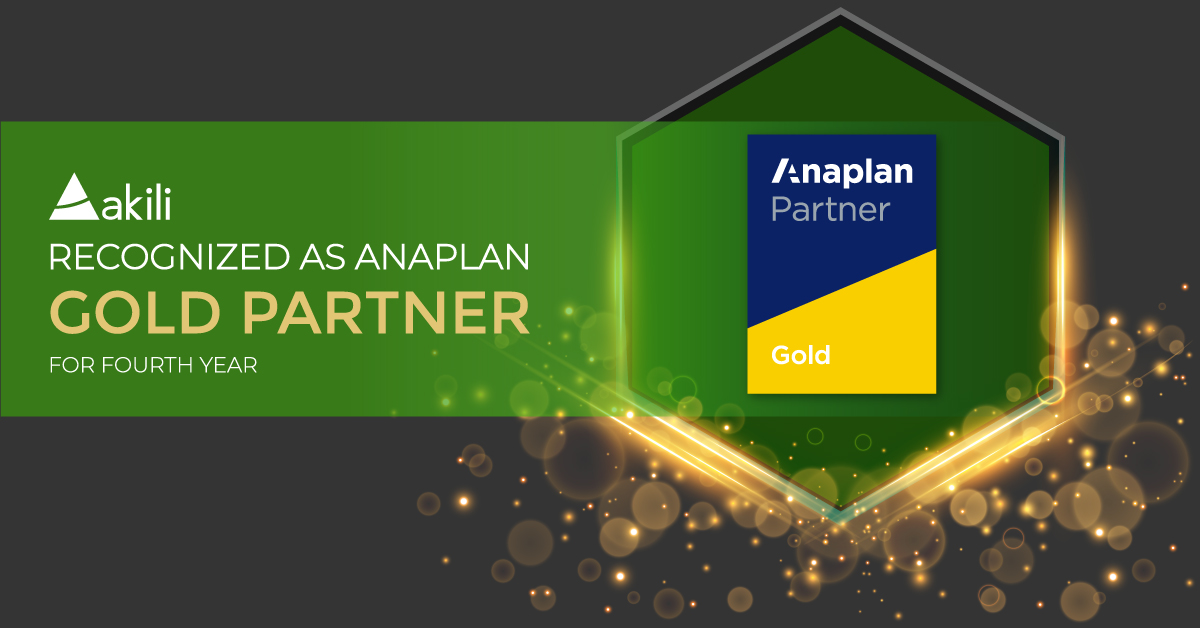 Akili Recognized as Anaplan Gold Partner for Fourth Year