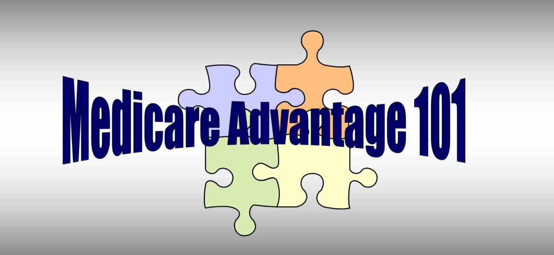 Medicare Advantage 101 with puzzle pieces