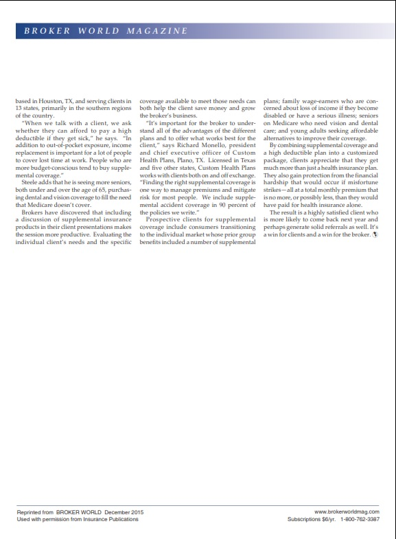Page 2 Broker World Article