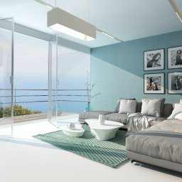 Sunny apartment with big windows