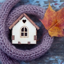 Home wrapped by scarf