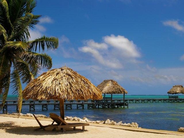Cabanas on a beach