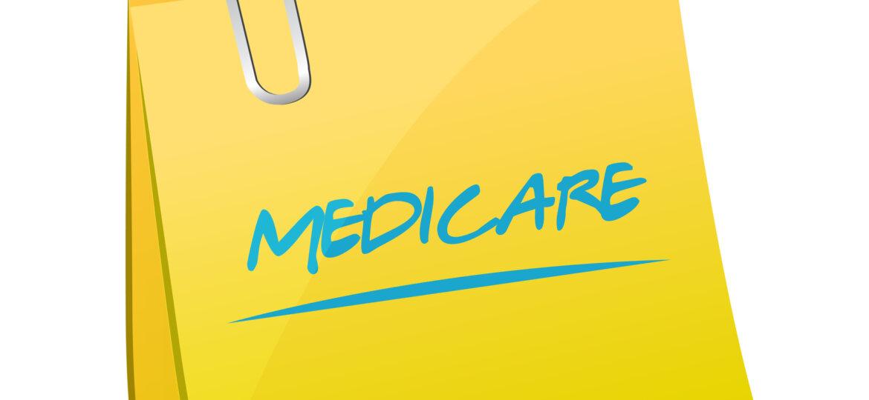 Medicare sticky note